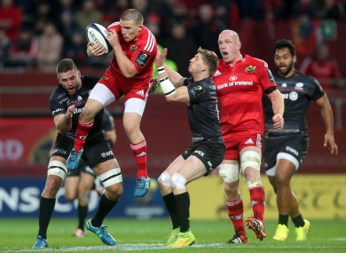 Conway was superb on kick chase for Munster.