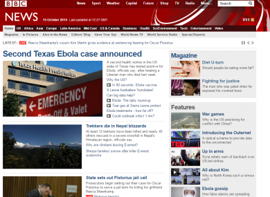 The BBC News website