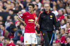 Ander Herrera's rib injury seemed to be caused by a brush with the referee