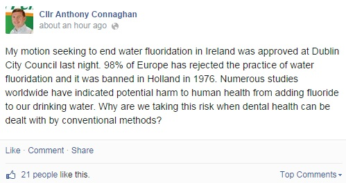cllr connaughan facebook fluoride