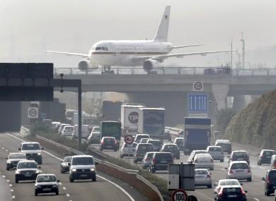 Runway bridge at Frankfurt Airport