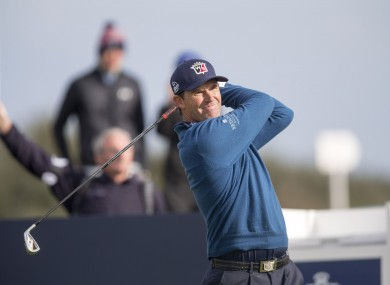 Harrington was in fine form at the Alfred Dunhill Links Championship today.