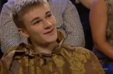 Did you catch the King Joffrey lookalike wearing his mammy's curtains in the Late Late audience?