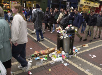 Litter in Dublin City Centre (File photo)