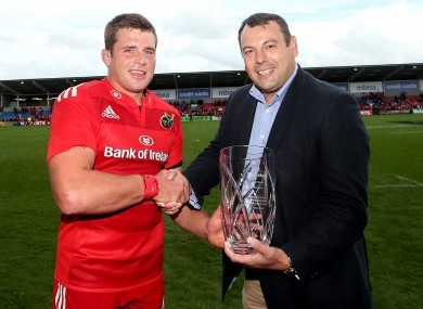 Stander was man of the match in Munster's win.