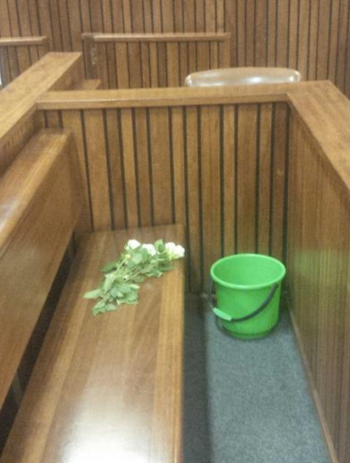 Oscar Pistorius leaves court dock to spend his first night in jail