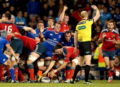 Munster greet a penalty decision with pleasure.