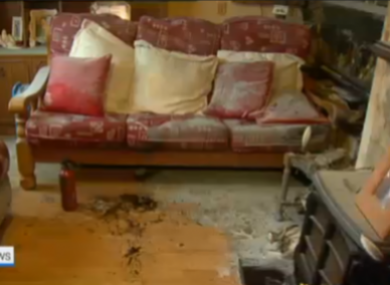 The aftermath of the attack.