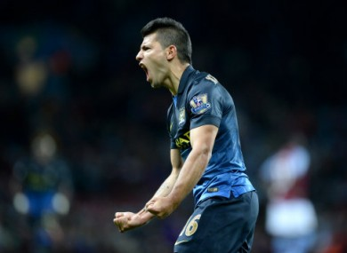 Sergio Aguero made the game safe with a late goal for City.