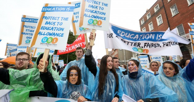 'No ifs, no buts, no education cuts' – thousands of students march on Leinster House