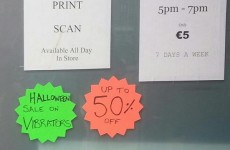 A Dublin sex shop is holding a 'Halloween sale on vibrators'