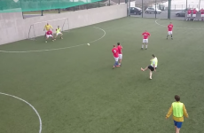 VIDEO: Galway lad channels his inner David Beckham to score 7-a-side screamer