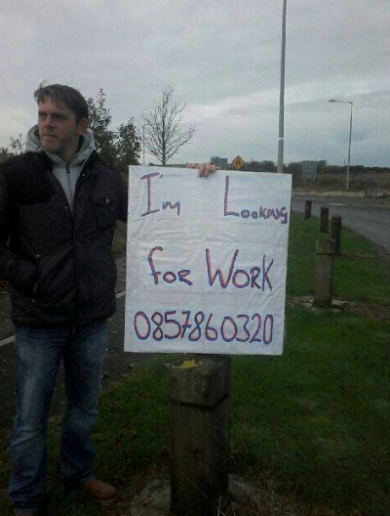 Can you help? … This Balbriggan man is taking a novel approach to job hunting