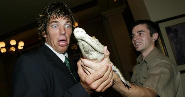 Swimming with sharks, Hamilton's try, Rala and a snake – 23 old school Ireland Australia pics