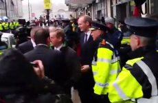 Videos: Enda Kenny got a fierce noisy reception from protesters in Cork today