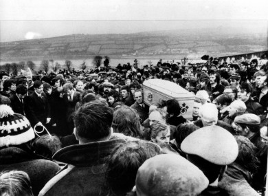 A funeral of one of the victims.