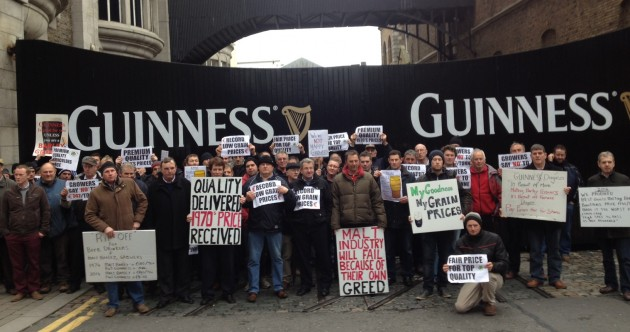 There was a protest outside the Guinness factory today, here's why
