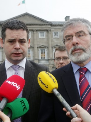 Pearse Doherty and Gerry Adams are in New York today.