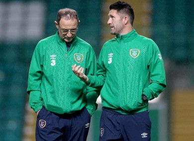 Robbie Keane and his 65 international goals are on the bench this evening.