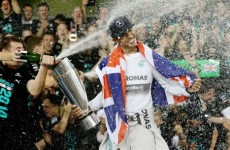 There'll be about 100 gallons of champagne sprayed on Lewis Hamilton tonight