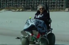 """100-year-old woman sees the ocean for first time, says """"it's cold"""""""