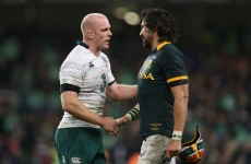 POC delighted with defensive effort and Ireland's depth to chop down the Boks