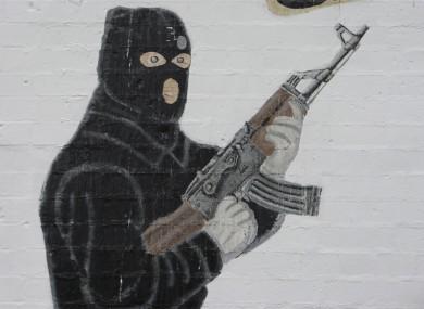 Detail from an Ulster Volunteer Force mural in East Belfast.