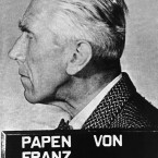 Official portrait of Hitler's political intriguer and last Nazi Ambassador to Turkey Franz Von Papen. <span class=