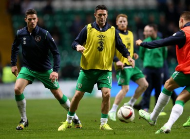 Keane was a second-half substitute at Celtic Park.