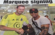 Sentence you never thought you'd see: George O'Callaghan has just signed El Hadji Diouf