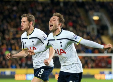 Tottenham moved up to tenth after their win.