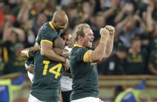 Springboks XV to face Ireland unchanged from win over All Blacks