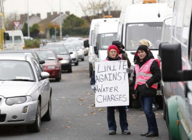 Irish Water protesters in Donaghmede earlier this month