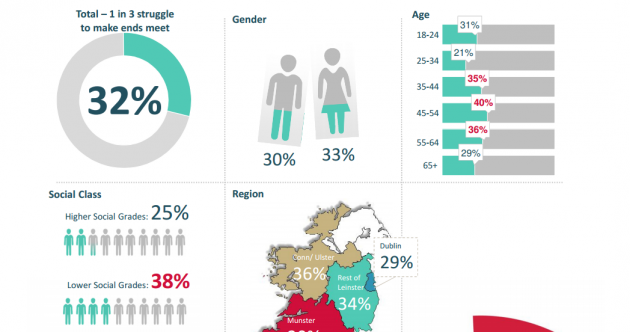 This infographic shows which groups in Ireland are struggling most