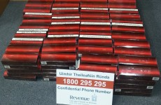 "Revenue stop 130,000 cigarettes marked ""school goods"" from hitting the market"