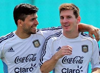 Sergio Aguero and Lionel Messi are Argentina teammates.