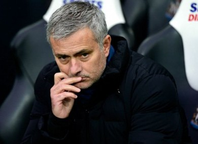 Mourinho watched his side lose a 23-game unbeaten run on Saturday.