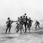A Christmas day football match in Greece in 1915.<span class=