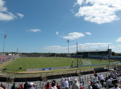 A general view of Casement Park in Belfast.