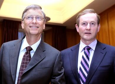 Microsoft founder Bill Gates and Taoiseach Enda Kenny