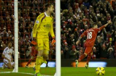 A goalkeeping blunder and a touch of class from Lallana helped Liverpool rout Swansea