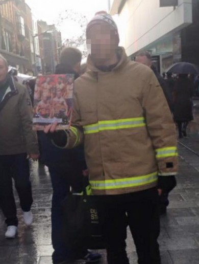 These men are not fire fighters – but they're not scamming you
