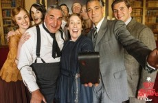 Here's George Clooney in the totally bizarre Downton Abbey charity special