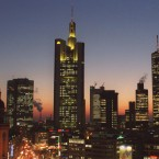 The banking district in downtown Frankfurt, Germany. (AP Photo/Bernd Kammerer)<span class=
