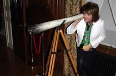 Joan Burton accidentally poses with giant spliff