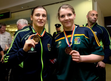 Grace and Katie Taylor with their European medals.