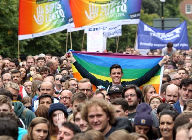 A Dublin march for marriage equality.
