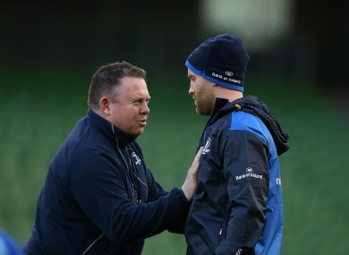 O'Connor tells Luke Fitzgerald exactly what he's looking for this weekend.