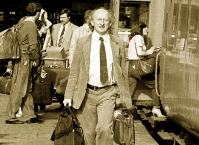 President Michael D Higgins, back in the day.