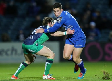 Reid beats the tackle of Marmion at the RDS last night.